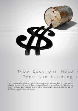 Oil Dollar Word Template Cover Page