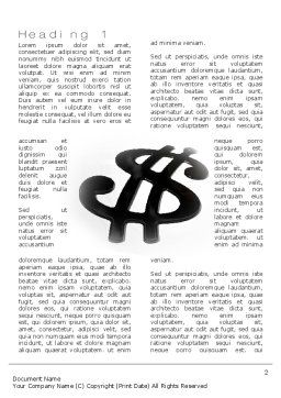 Oil Dollar Word Template First Inner Page