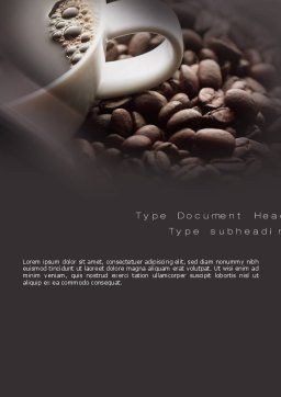 Coffee Beans Word Template, Cover Page, 10715, Food & Beverage — PoweredTemplate.com