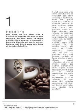Coffee Beans Word Template, First Inner Page, 10715, Food & Beverage — PoweredTemplate.com