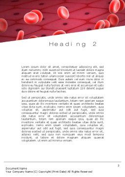 Artery Word Template, Second Inner Page, 10718, Medical — PoweredTemplate.com