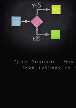 Blank Flowchart Word Template, Cover Page, 10720, Business Concepts — PoweredTemplate.com