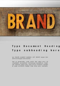 Company Brand Word Template, Cover Page, 10721, Careers/Industry — PoweredTemplate.com