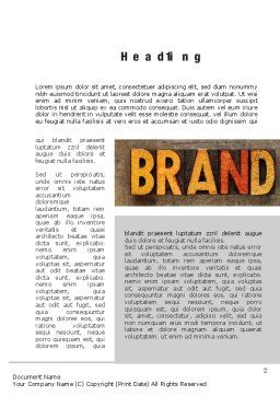 Company Brand Word Template First Inner Page