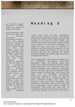 Company Brand Word Template Second Inner Page