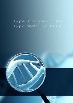 Genetic Test Word Template, Cover Page, 10722, Medical — PoweredTemplate.com