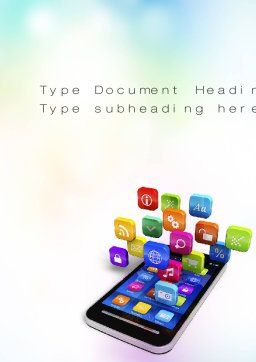 Mobile Apps Word Template, Cover Page, 10724, Technology, Science & Computers — PoweredTemplate.com