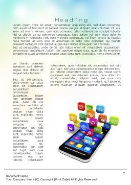Mobile Apps Word Template, First Inner Page, 10724, Technology, Science & Computers — PoweredTemplate.com
