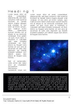 Constellation Word Template First Inner Page