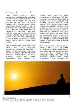 Self-knowledge Word Template First Inner Page