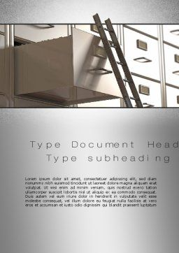 Corporate Ladder Word Template Cover Page