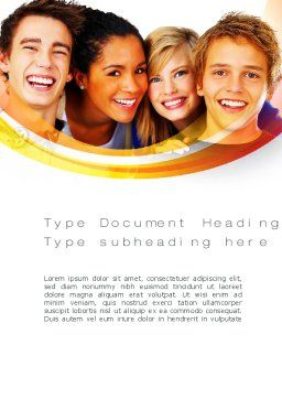 High School Students Word Template, Cover Page, 10728, People — PoweredTemplate.com