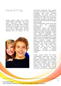 High School Students Word Template, First Inner Page, 10728, People — PoweredTemplate.com