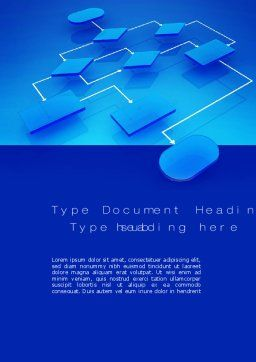 Flowchart Concept Word Template, Cover Page, 10729, Consulting — PoweredTemplate.com