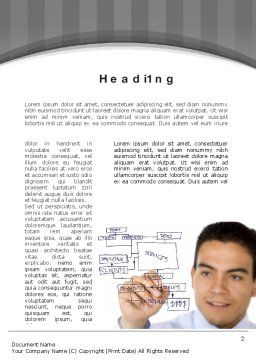 Drawing a Business Plan Word Template, First Inner Page, 10730, Business — PoweredTemplate.com