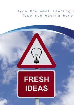 Fresh Ideas Word Template, Cover Page, 10731, Business Concepts — PoweredTemplate.com