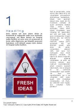 Fresh Ideas Word Template, First Inner Page, 10731, Business Concepts — PoweredTemplate.com