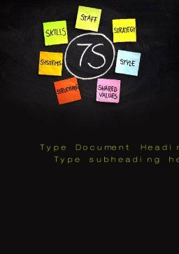7S Model Word Template, Cover Page, 10733, Business Concepts — PoweredTemplate.com
