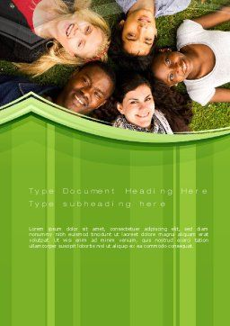 College Students Word Template, Cover Page, 10736, People — PoweredTemplate.com