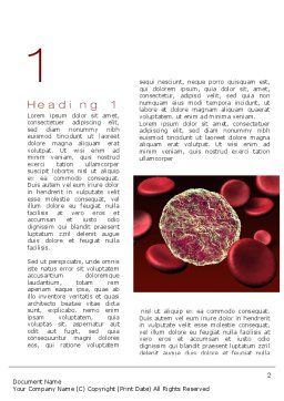 Virus Cells Word Template, First Inner Page, 10738, Medical — PoweredTemplate.com