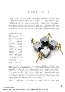 Teamwork Concept Word Template, First Inner Page, 10739, Business Concepts — PoweredTemplate.com
