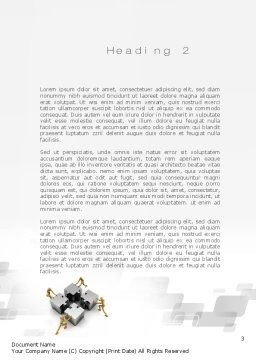 Teamwork Concept Word Template, Second Inner Page, 10739, Business Concepts — PoweredTemplate.com