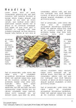 Gold Bars on Dollars Word Template First Inner Page