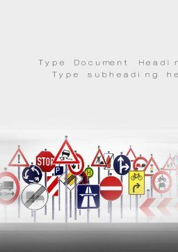 Road Signs Word Template Cover Page