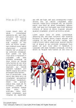 Road Signs Word Template First Inner Page