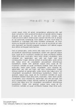 Road Signs Word Template Second Inner Page