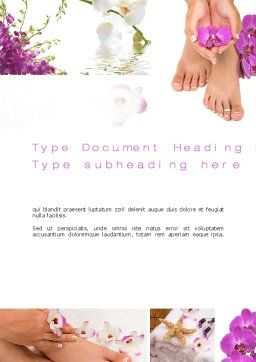 Nail Spa Word Template, Cover Page, 10744, Careers/Industry — PoweredTemplate.com