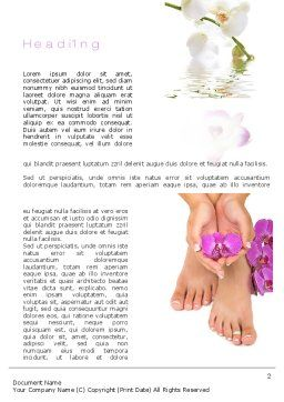 Nail Spa Word Template First Inner Page