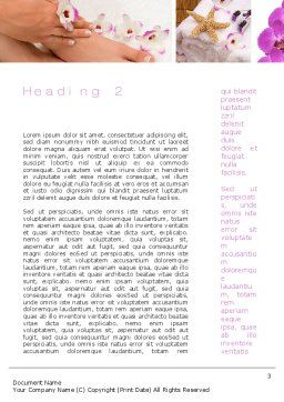 Nail Spa Word Template, Second Inner Page, 10744, Careers/Industry — PoweredTemplate.com