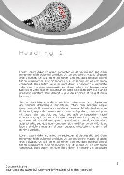 Business Intelligence Word Template Second Inner Page