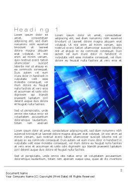 Marketing Plan Word Template, First Inner Page, 10750, Business — PoweredTemplate.com
