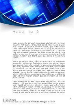 Marketing Plan Word Template, Second Inner Page, 10750, Business — PoweredTemplate.com