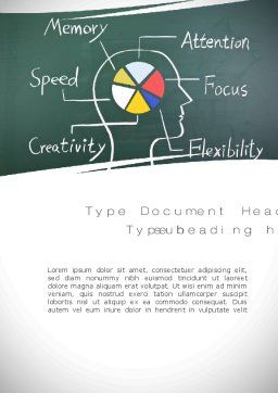 Brain Health Word Template Cover Page