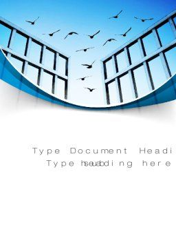 Open Iron Gate Word Template, Cover Page, 10757, Business Concepts — PoweredTemplate.com