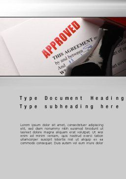 Approved Word Template, Cover Page, 10758, Legal — PoweredTemplate.com