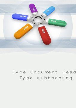 USB Flash Drives Word Template, Cover Page, 10759, Technology, Science & Computers — PoweredTemplate.com