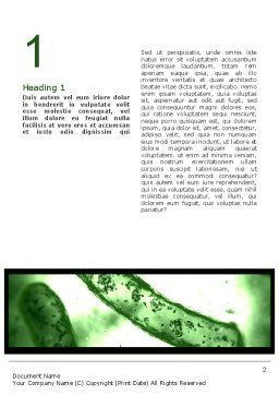 Bioprocess Monitoring Word Template, First Inner Page, 10760, Medical — PoweredTemplate.com