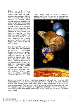 The Solar System Word Template, First Inner Page, 10761, Technology, Science & Computers — PoweredTemplate.com