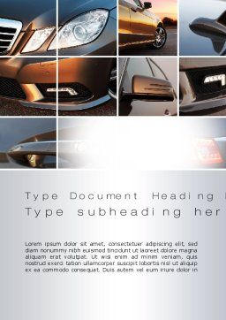 Car Exterior Design Word Template Cover Page
