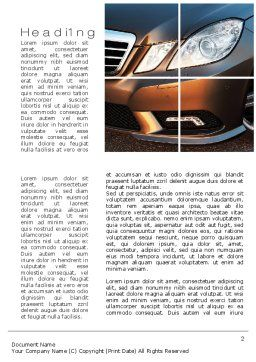Car Exterior Design Word Template, First Inner Page, 10763, Careers/Industry — PoweredTemplate.com
