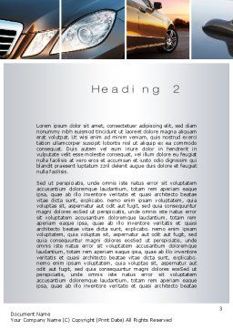 Car Exterior Design Word Template Second Inner Page
