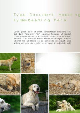 Labrador Word Template Cover Page