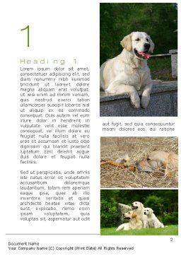 Labrador Word Template First Inner Page