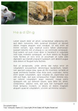 Labrador Word Template Second Inner Page