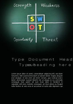 SWOT Analysis Word Template, Cover Page, 10768, Consulting — PoweredTemplate.com