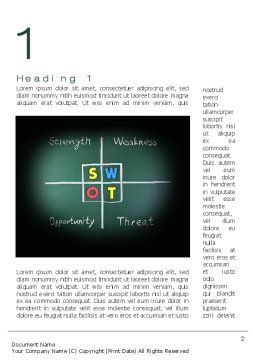 SWOT Analysis Word Template, First Inner Page, 10768, Consulting — PoweredTemplate.com